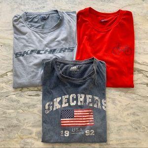 Lot Bundle of 3 Skechers Shirt Sleeve T-Shirts